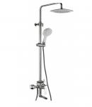 Душевая стойка со смесителем для ванны и душа Welle Kate CB23X77D-1KA0418-TH1301